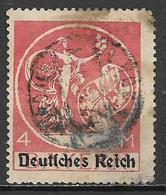 GERMANIA REICH REP DI WEIMAR 1920 FRANCOBOLLI DI BAVIERA SOPRASTAMPATI UNIF. 236  USATO VF - Germania