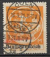 GERMANIA REICH REP DI WEIMAR 1920 FRANCOBOLLI DI BAVIERA SOPRASTAMPATI UNIF. 236 A  USATO VF - Germania