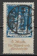 GERMANIA REICH REP DI WEIMAR 1922 A FAVORE DEGLI ANZIANI E DEI FANCIULLI UNIF. 237 USATO VF - Germania