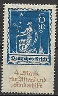 GERMANIA REICH REP DI WEIMAR 1922 A FAVORE DEGLI ANZIANI E DEI FANCIULLI UNIF. 237 MNH SENZA GOMMA VF - Germania