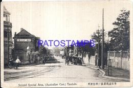 114412 CHINA TIENTSIN AUSTRALIAN CON. SECOND SPECIAL AREA & RAILROAD POSTAL POSTCARD - Chine