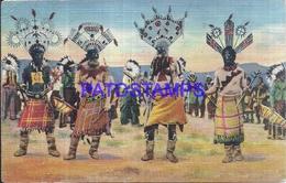 114420 US COSTUMES DEVIL DANCE OF THE APACHE INDIAN NATIVE CIRCULATED TO ARGENTINA POSTAL POSTCARD - Estados Unidos