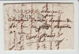 Cte D'Or:  P 20 P / VITEAUX De 30 M/m, Au Recto PP +Bonnet Phrygien Arrivée à Paris Verso Taxe 4 De Distribution - 1701-1800: Precursors XVIII