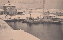 Otaru (Hokkaido Island) Japan, Boats In Harbor Winter With Snow, C1910s Vintage Postcard - Japan