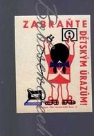 K7-279 CZECHOSLOVAKIA 1965 Child Protection Prevent Child Injuries - Child  With Iron - Scatole Di Fiammiferi - Etichette