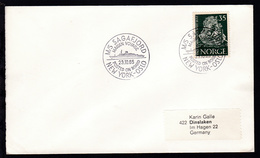 M/S SAGAFJORD MAIDEN VOYAGE POSTED ON BOARD NEW YORK-OSLO 23.10.85 Auf Brief - Stamps