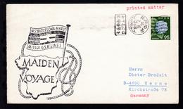 """Cachet Jungfernfahrt MS """"Barcelona Maru"""" + Jap. OSt. Auf Brief - Stamps"""