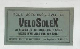 Publicité Vélosolex Montpellier Automobile - Advertising