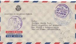 Costa Rica: 1962: Ministerio De Securidad Publica San Jose To Argentina - Costa Rica