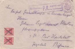 Zensur: Feldart. Regiment Nach  Böhmen - Mühlhausen P.K. Geprüft - Allemagne