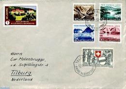 Switzerland 1952 Letter To Tilburg From Telegraph Office, (Postal History) - Svizzera