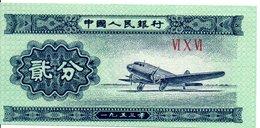 CHINE  Billet De Cerceuil VI X VI  Avion Jet (P) - China