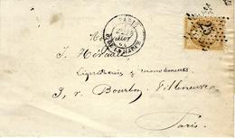 1864- Lettre De PARIS / R. DE LA HARPE Affr. N°21 Oblit. étoile 25 - Postmark Collection (Covers)