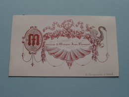 Monsieur & Madame JEAN ROMMEL > G. Jacqmain à GAND ( Porcelein Porcelaine Porzellan Porcelana > Zie / Voir Photo ) ! - Cartes De Visite