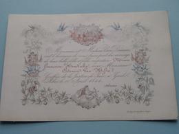 Mariage De Mr. Edouard VAN HIFTE & Minnie HENDRICKX ( Porcelein Porcelaine Porzellan Porcelana > Zie / Voir Photo ) ! - Wedding
