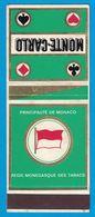 POCHETTE SANS ALLUMETTES PRINCIPAUTE DE MONACO REGIE MONEGASQUE DES TABACS MONTE CARLO - Boites D'allumettes