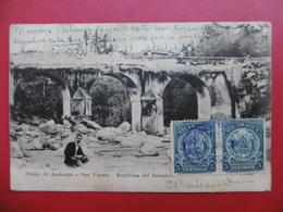 CACHET LOCAL CORINTO BUZON PAIRE TIMBRES NICARAGUA 1909 CPA PUENTE DE ACAHUAPA - Nicaragua