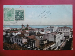 CARTE PARA BRESIL VIA NIMES FRANCE CACHET DE TRANSIT LISBOA 1908 - Brésil