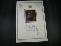 "BELG.1985 2198 FDC Philately Card(zijde/soie): "" Koning Boudewijn & Koningin Fabiola / S.M.le Roi Baudouin & S.M. La Rei - FDC"