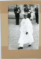 Photo Originale  Le Général  SEYNI KOUNTCHE  Chef D'etat Du  NIGER En  Visite à PARIS - Guerre, Militaire