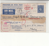 G.B. / P.O.W. Airmail Stationery / Censorship / Italy / Germany / Sussex - Ohne Zuordnung