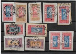 DAHOMEY - Lot D'oblitérations Sur Fragments - Dahomey (1899-1944)