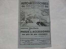 VIEUX PAPIERS - PARIS 17éme - FASCICULE (8 Pages) : Ets AUTO-ACCESSOIRES (phare-code, Chargeur Auto-access...) - Advertising