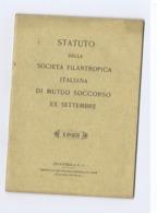 GUATEMALA - STATUTO DELLA SOCIETA' FILANTROPICA ITALIANA DI MUTUO SOCCORSO XX SETTEMBRE  - ANNO 1923 - Livres, BD, Revues