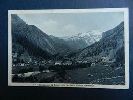 19891) VALLE D'AOSTA GRESSONEY LA TRINITE VEDUTA GENERALE VIAGGIATA 1928 Ed CURTA - Italia