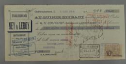 Lettre De Change 44 001, Mandat Loire Atlantique - Chateaubriant - Ney & Leroy - Emaillerie Parisienne, Timbre Fiscal - Lettres De Change