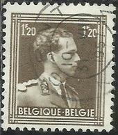 BELGIQUE BELGIE BELGIO BELGIUM 1936 1956 1951 KING ROI RE LEOPOLD III 1.20f USATO USED OBLITERE - België