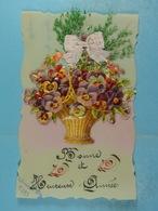 Bouquet De Fleurs (celluloïd) - Cartoline