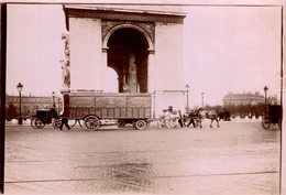 ATTELAGE   PARIS  DEMENAGEMENTS TOUS PAYS LEFEVRE ET FILS  18*13 CM Fonds Victor FORBIN 1864-1947 - Lugares