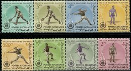 AFH386 Afghanistan 1963 Asian Games Tennis And Other 8V MNH - Afghanistan