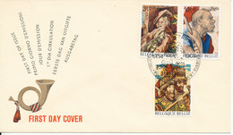 Belgium FDC 20-9-1969 Complete Set Of 3 Wall Carpets With Cachet - FDC