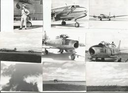 9 PHOTOS AVIATION  ANNEES 50 TIREES D'UN ALBUM - Aviation
