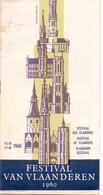 Programma Programme - Festival Van Vlaanderen 1960 - Programs