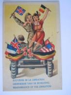 Humor Humour Souvenir De La Libération Gedenkenis Van De Bevrijding Vlaggen Drapeaux Edit Belgique - Humor