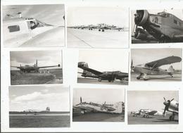 AVIATION 9 PHOTOS TIREES D'UN ALBUM ANNEES 50 - Aviation