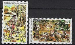 """Congo YT 517 & 518 """" Chasse Indigène """" 1978 Neuf** - Congo - Brazzaville"""