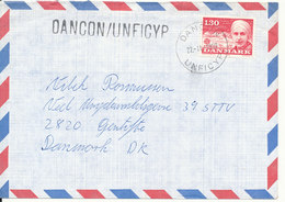 Denmark Air Mail Cover DANCON UNFICYP 22-11-1980 Single Franked EUROPA CEPT Stamp - Denmark
