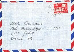 Denmark Air Mail Cover DANCON UNFICYP 28-12-1980 Single Franked EUROPA CEPT Stamp - Danemark