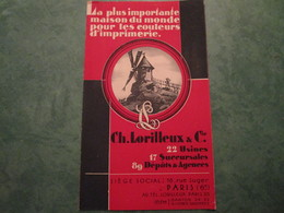 Couleurs D'Imprimerie CH. LORILLEUX & Cie - Siège Social 16, Rue Suger - Distrito: 06