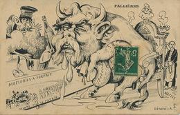 Caricature Fallières Franc Maçonnerie Dreyfus  Antisémite Pot De Chambre Zola Signée Mattis Benoni - Satira