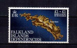 FALKLAND ISLANDS  Carte   Map  1£ + 1$   ** MNH Gomme Intacte TTB - British Antarctic Territory  (BAT)