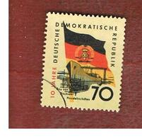 GERMANIA EST (EAST GERMANY) (DDR) - SG E463 - 1959 10^ ANNIVERSARY OF DDR 70  -  USED - Usati