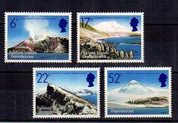 FALKLAND ISLANDS  4 Valueus  4 Valeurs Volcans   ** MNH Gomme Intacte TTB/SUP  VF - British Antarctic Territory  (BAT)