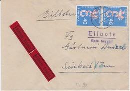 Bund Mi 296 (2) MeF Europa CEPT EilBf Regensburg 1959 - Briefe U. Dokumente