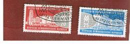 GERMANIA EST (EAST GERMANY) (DDR) - SG E463 - 1960 LEIPZIG SPRING FAIR (COMPLET SET OF 2) -  USED - [6] Repubblica Democratica
