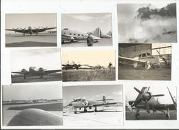 AVIATION 9 PHOTOS ANNEES 50 TIREES D'UN ALBUM - Aviation